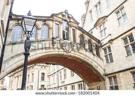 The Bridge of Sighs in Oxford, UK - stock photo