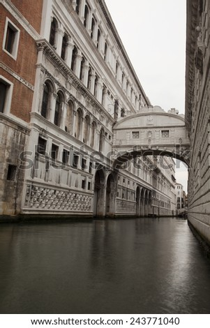 The Bridge of Sighs, spectacular architecture Venice, Italy.  - stock photo