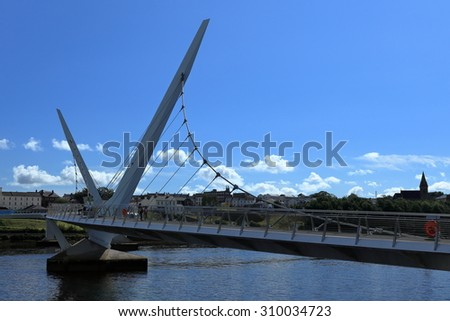 The bridge over the River Foyle from Derry