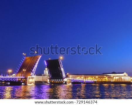 The bridges in St. Petersburg