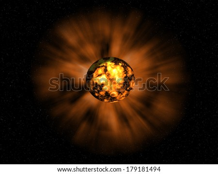 the bright explosion on the unknown planet