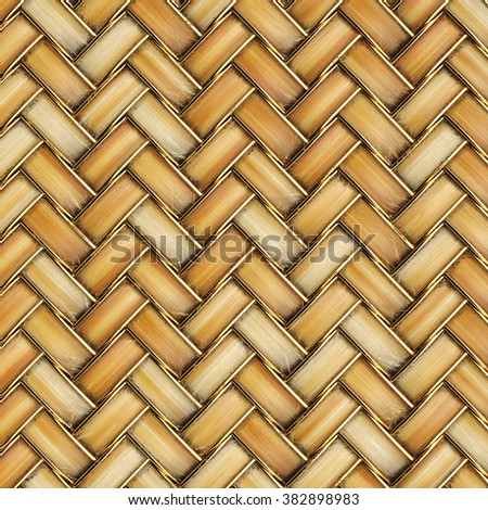 the bright wooden texture of rattan with natural patterns