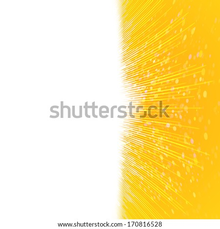 The bright yellow background with thin lines in the form of an equalizer. Raster version   - stock photo