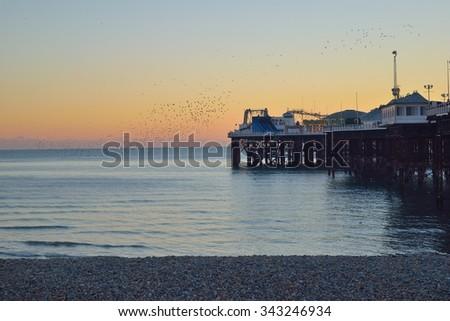 The Brighton Pier  - stock photo