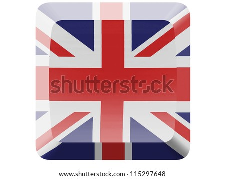 The British flag painted on button - stock photo
