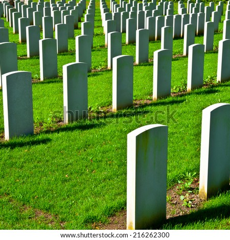 The British Military Cemetery in Bavaria, Germany - stock photo