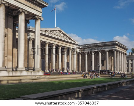 The British Museum in London, England, UK