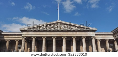 The British Museum in London, UK