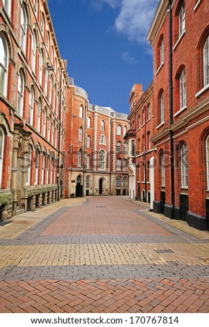 The Broadway, Lace Market, Nottingham, England. (The Lace Market was the centre of the lace making industry during the British Empire) - stock photo