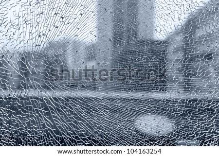 THE BROKEN GLASS - stock photo