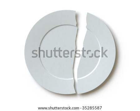 The broken plate. In my portfolio there is collection of pictures of tablewares. You only enter IN a SEARCH the Photographer Name: PAVEL IGNATOV and keyword: TABLEWARE - stock photo