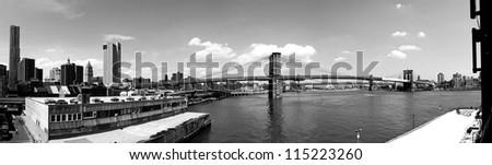 The Brooklyn Bridge - stock photo