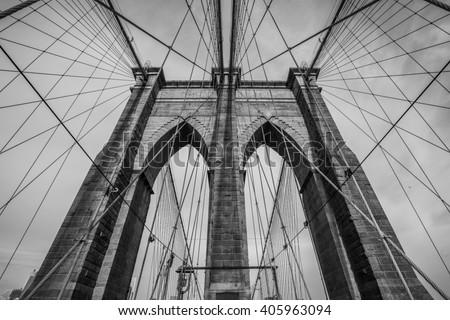 The Brooklyn bridge, New York City. USA. - stock photo