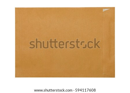 The brown paper envelopes isolated on white background