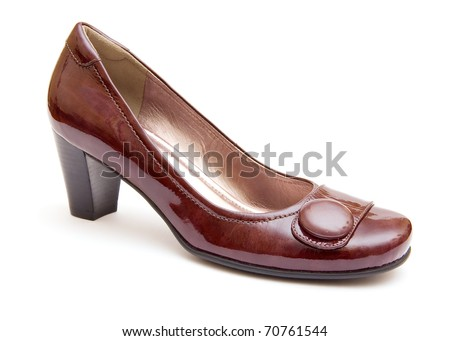 The brown woman's shoe isolated on white background