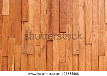 the brown wood texture of wall with natural patterns - stock photo