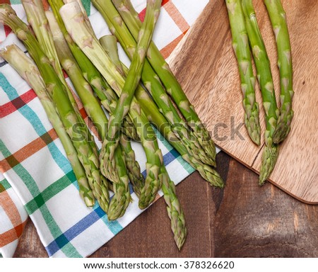 the brunch of aspargus - stock photo