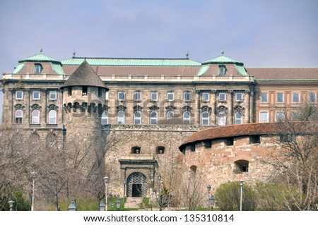 The Buda castle in Budapest, Hungary - stock photo