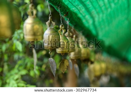 The buddhist temple in Phuket island, Thailand - stock photo