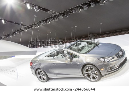 The 2016 Buick Cascada convertible at The North American International Auto Show January 13, 2015 in Detroit, Michigan.  - stock photo