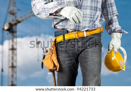 The builder against the sky