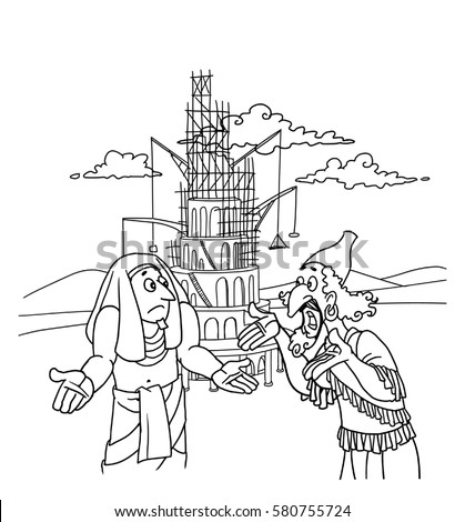 Tower Of Babel Stock Images Royalty Free Images Vectors Tower Of Babel Coloring Page