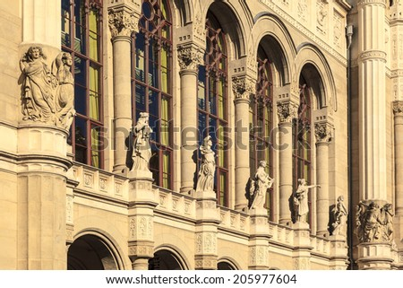 "The building of the Music hall ""Vigado"" in Budapest  Hungary - stock photo"