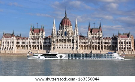 The building of the Parliament in Budapest, Hungary - stock photo