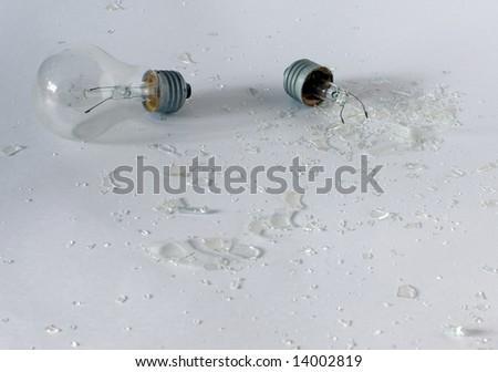 the bulb has broken - stock photo