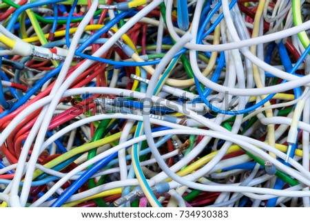 Bunch Electric Wires Different Colors Cable Stock Photo (Royalty ...