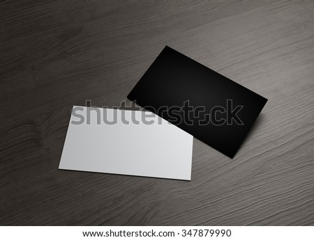 The business card to use for any presentation of corporate - stock photo