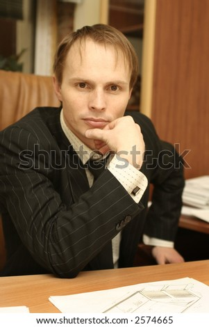 The businessman at office
