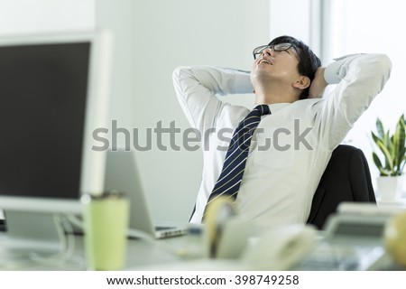 The businessman who is at the wits end, and grieves - stock photo