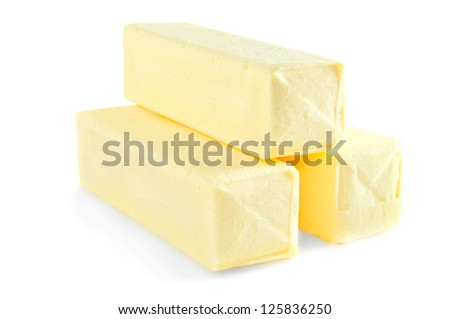 the butter loafs isolated