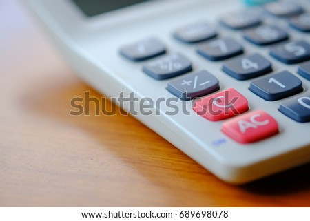 "The ""C"" key of the calculator."