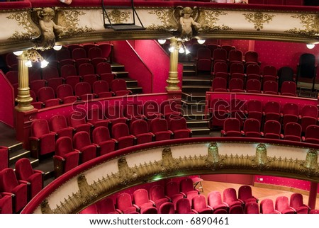 The Célestins theater was built between 1877 and 1890 by Gaspard Andre. it was twice consumed by fire.