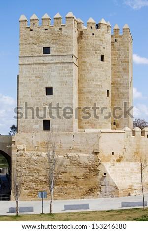 The Calahorra Tower (Spanish: Torre de la Calahorra), medieval defense tower in Cordoba, Andalusia, Spain. - stock photo