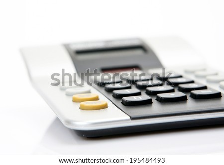 The calculator on a white background
