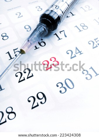 The calender and time planner