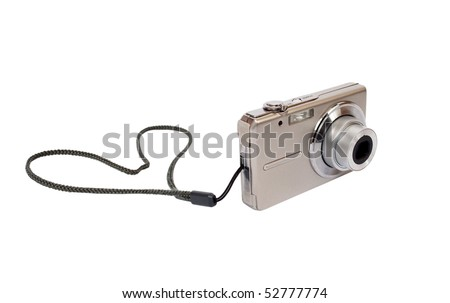 The camera on a white background