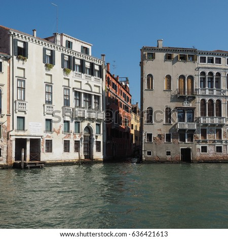 The Canal Grande (meaning Grand Canal) in Venice, Italy
