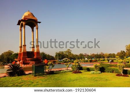 The Canopy near India Gate, New Delhi - stock photo