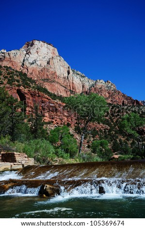 The Canyon Junction at Zion - stock photo