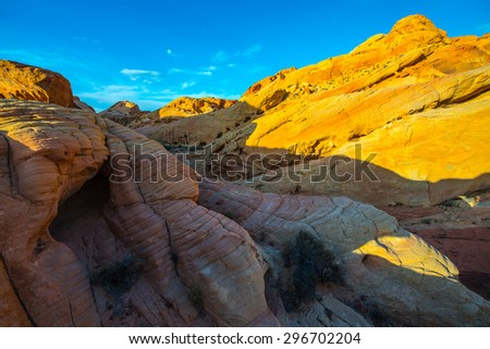 The canyons, domes, towers, ridges and valleys of Rainbow Vista - stock photo