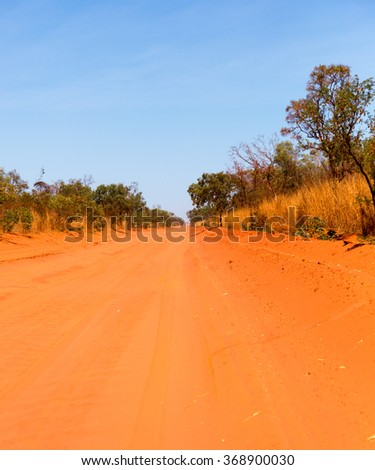 The Cape Leveque Road is a regional Western Australian road that runs through pindan woodland for 202 kilometres between Broome and Cape Leveque on the Dampier Peninsula