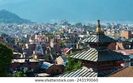 The capital of Nepal is Kathmandu - stock photo