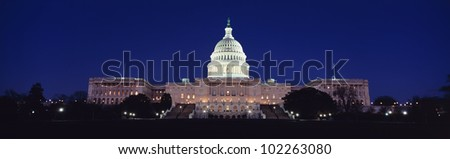 The Capitol at nighttime - stock photo