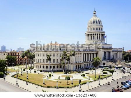 The Capitol in Havana, Cuba - stock photo