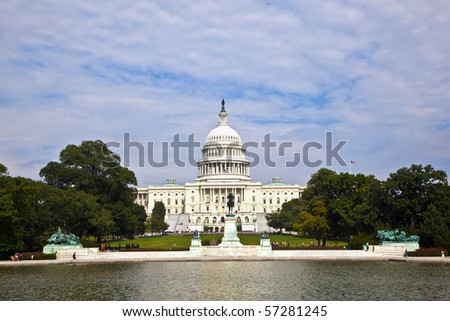 the Capitol in Washington - stock photo