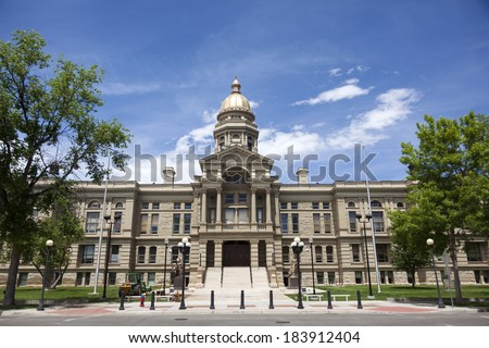 The Capitol of the State of Wyoming, in Cheyenne, Wyoming. - stock photo